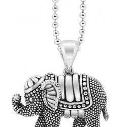 """<a href=""""https://www.lagos.com/product.php?pid=736?id=Elephant-Pendant-Necklace"""">Rare Wonders elephant pendant necklace</a>, $295"""