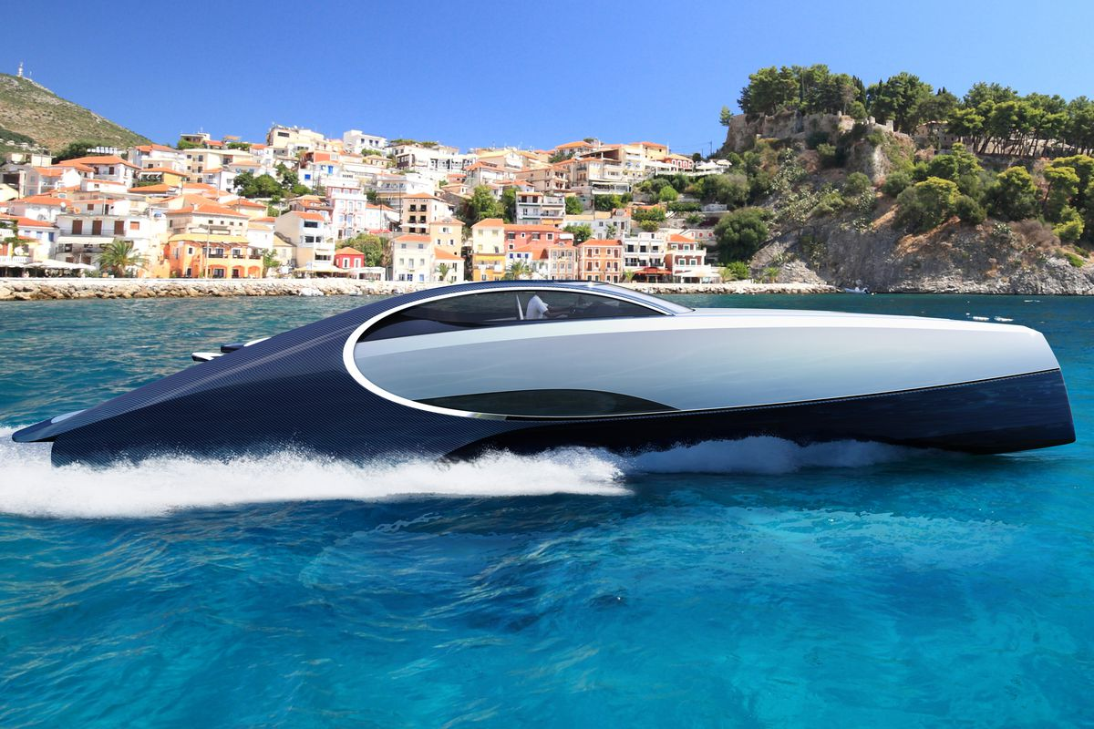 Bugatti S 4 Million Yacht Has A Jacuzzi And Fire Pit Because Being