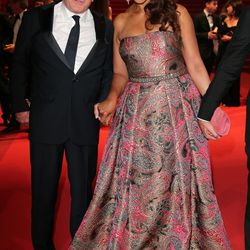 Robert DeNiro and wife Grace Hightower at the premiere of 'Hands of Stone.'