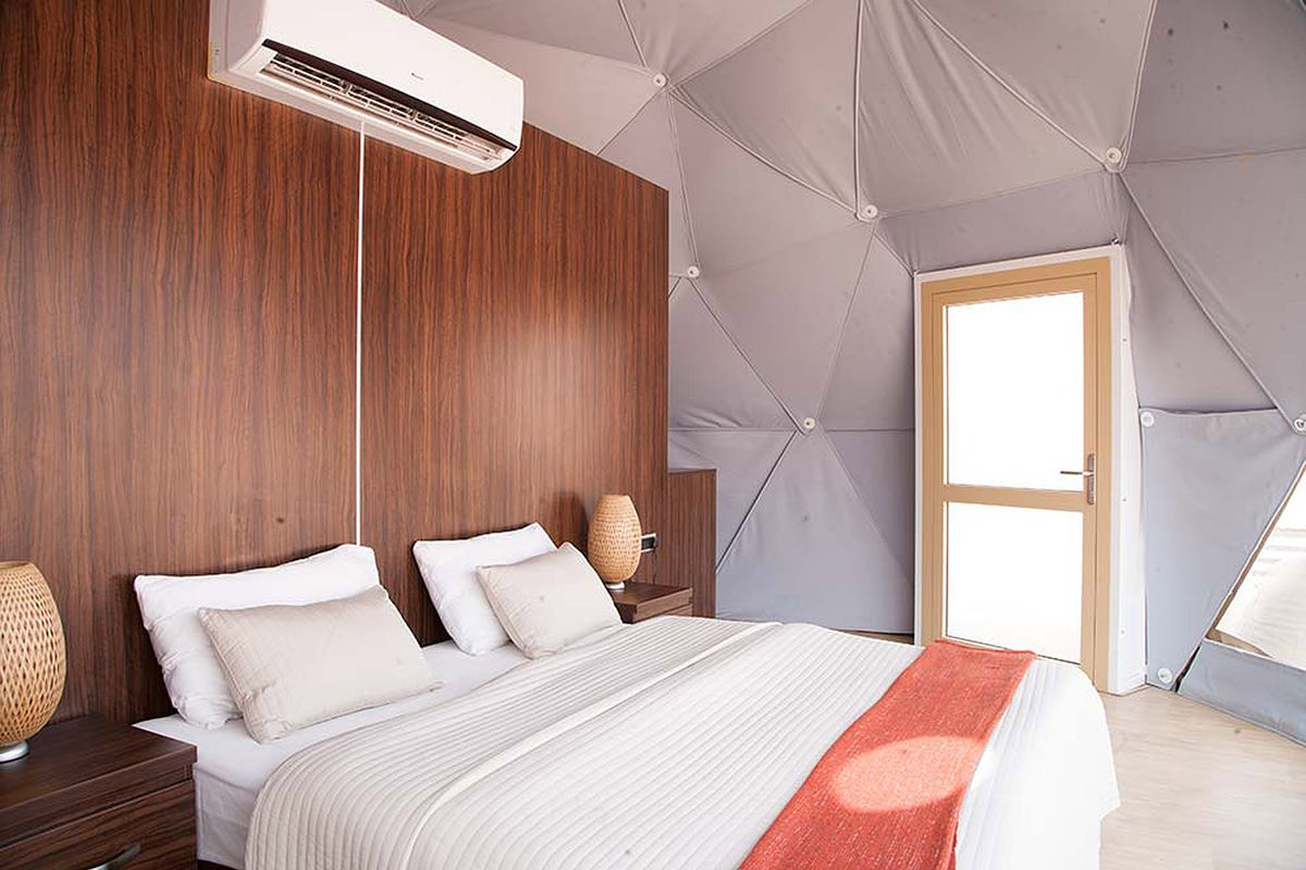 Bed in dome