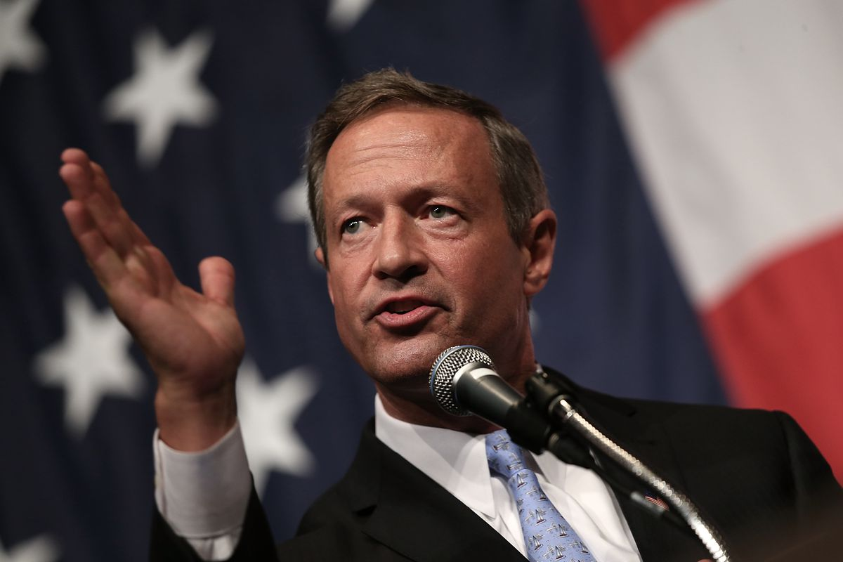 Martin O'Malley is an American, as the background of this image clearly demonstrates.