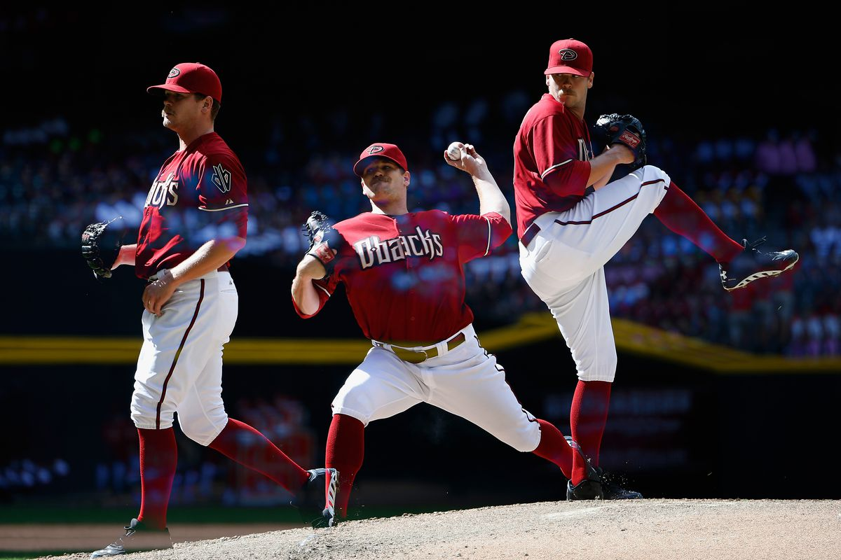 Relief pitcher Andrew Chafin on the mound