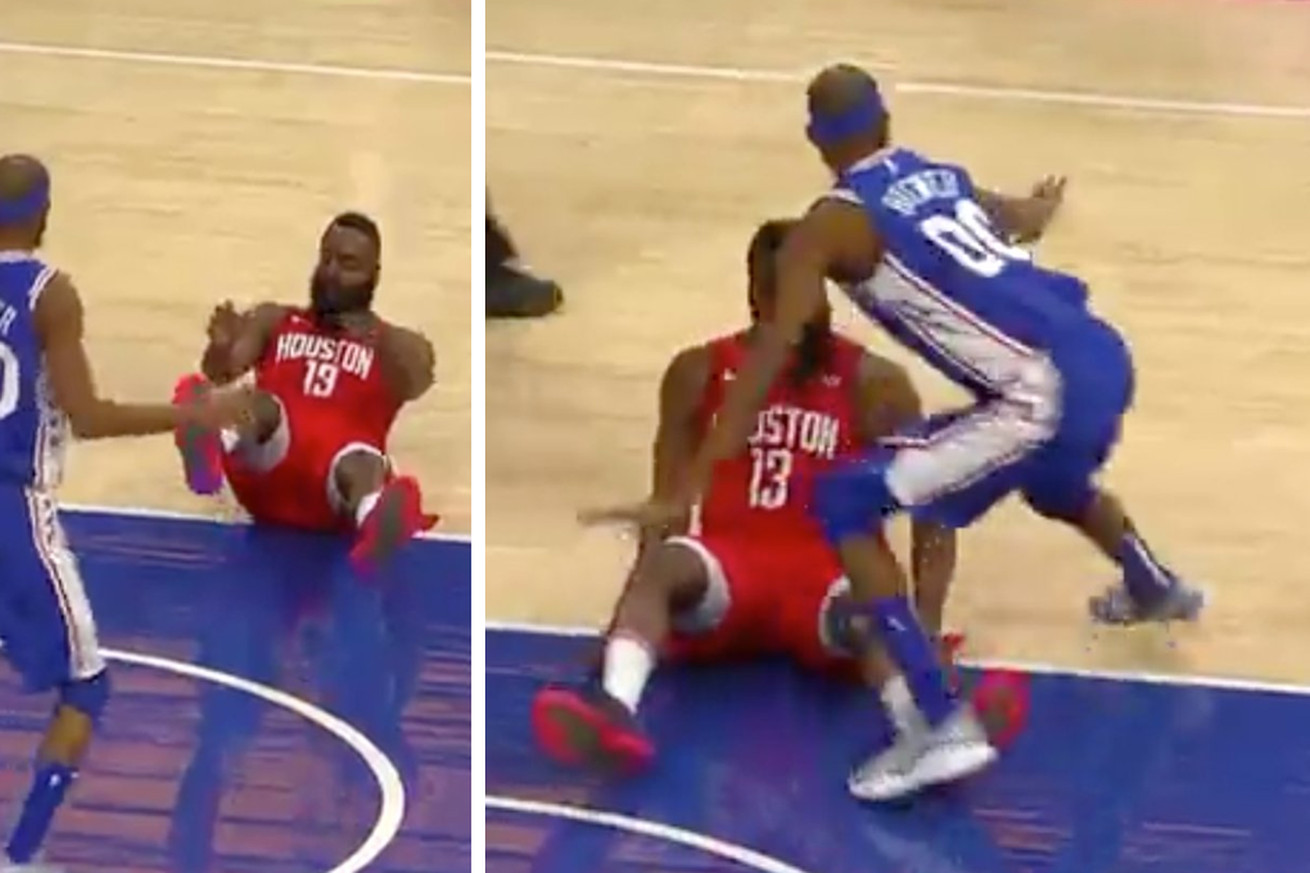 brewer.0 - Corey Brewer is inventing new, ridiculous ways to try to guard James Harden