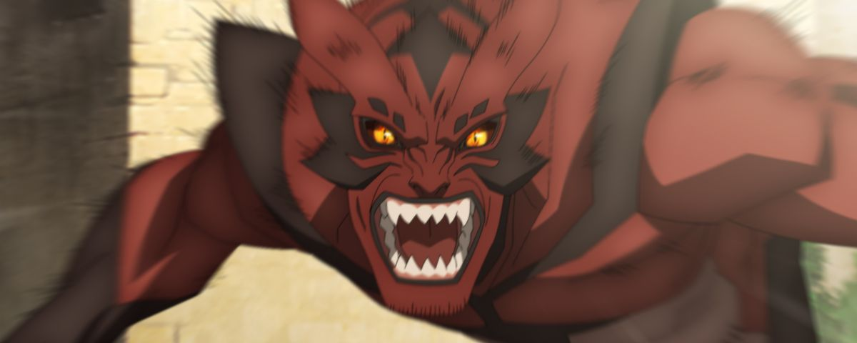 A snarling demonic beast in DOTA: Dragon's Blood