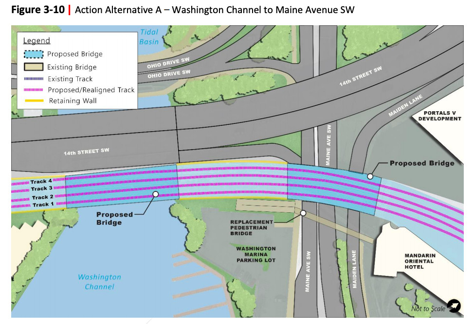 Long Bridge project from Washington Channel to Maine Avenue SW.