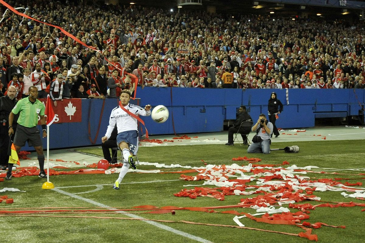 Remember this? At one point, somebody threw a beer can at Becks.