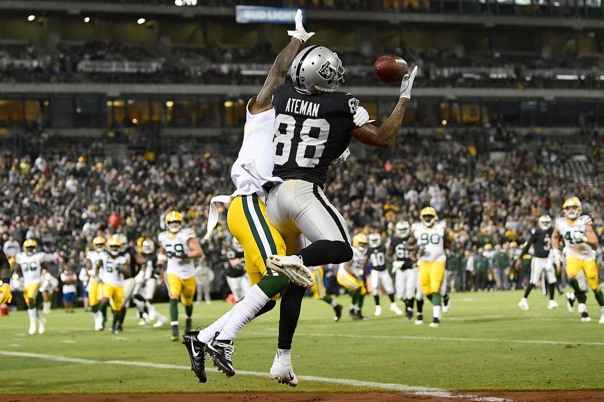 outlet store 77c6e 90e8d Raiders 7th round rookie Marcell Ateman finally given chance ...