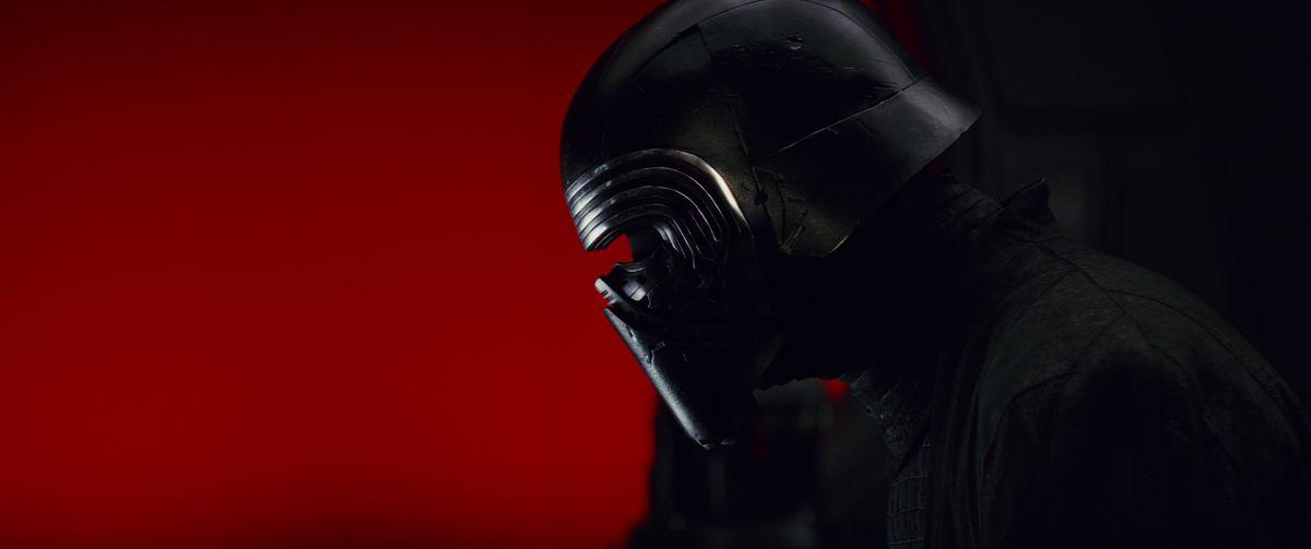Adam Driver as Kylo Ren in Star Wars: The Last Jedi