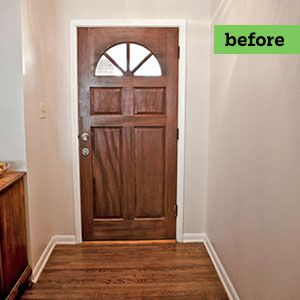 <p><strong>Before:</strong> The bare-bones entry had little square footage for mudroom storage.</p>