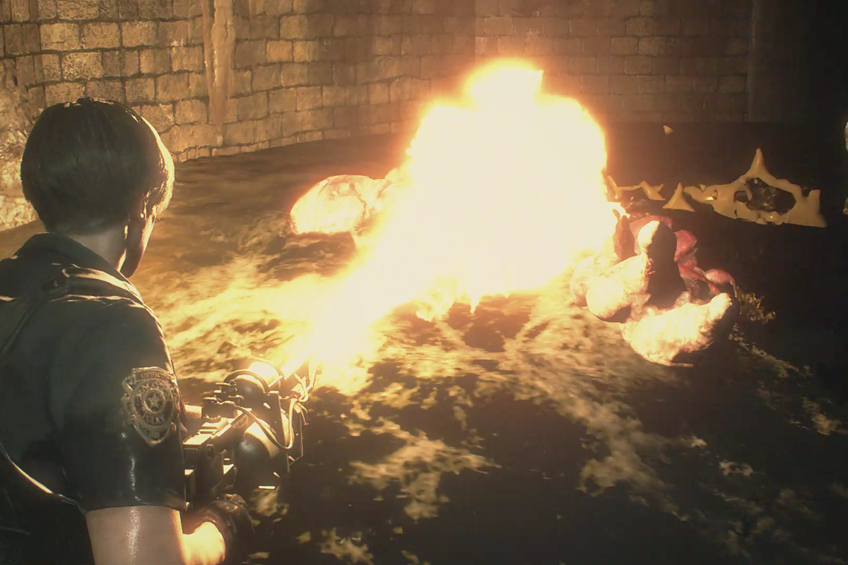 Resident Evil 2Supplies Storage Room solution and Chemical Flamethrower Leon walkthrough