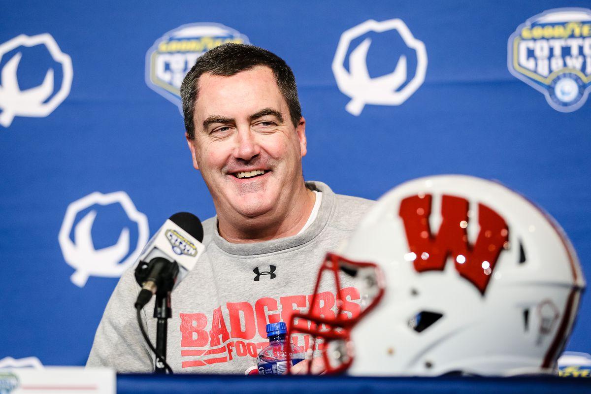 NCAA FOOTBALL: DEC 31 Cotton Bowl - Wisconsin Media Day