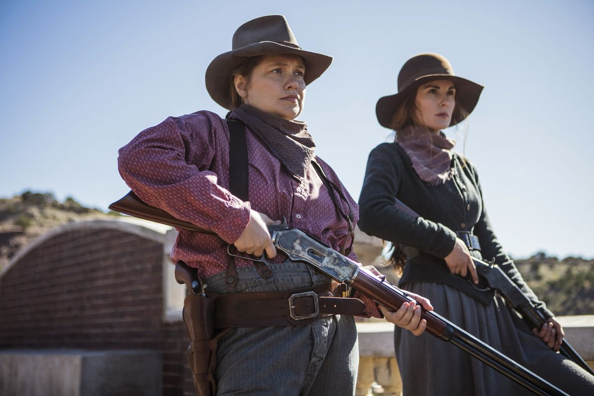 Merritt Wever And Michelle Dockery Pictured Here In The Show I Wish Less Actually Were Netflix