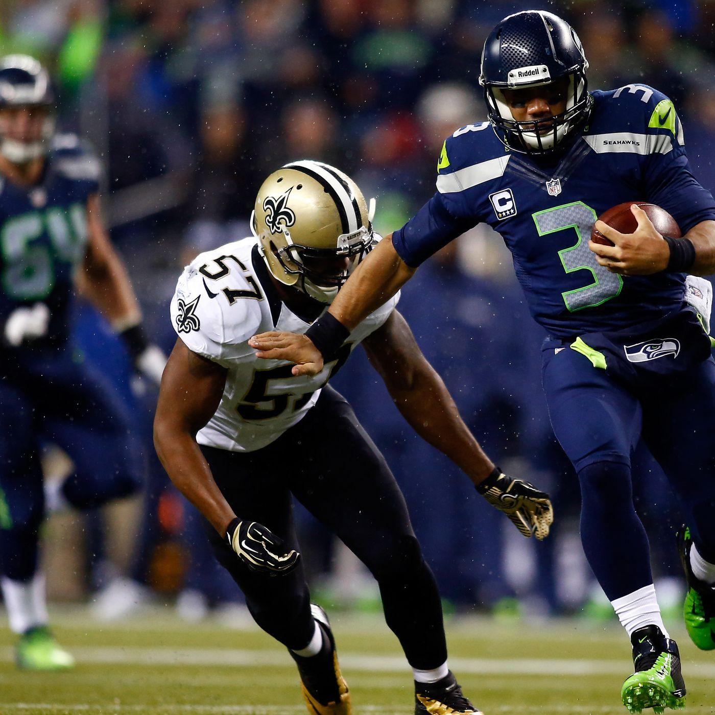 Saints Vs Seahawks Monday Night Football Final Score Seattle Russell Wilson Dominate Saints 34 7 Canal Street Chronicles
