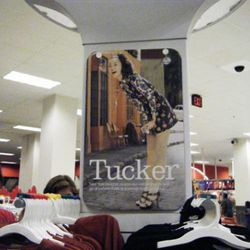 The Tucker section was heavily staffed with Target employees who immediately informed us that photography was forbidden (hence the not-so-great iPhone snaps)
