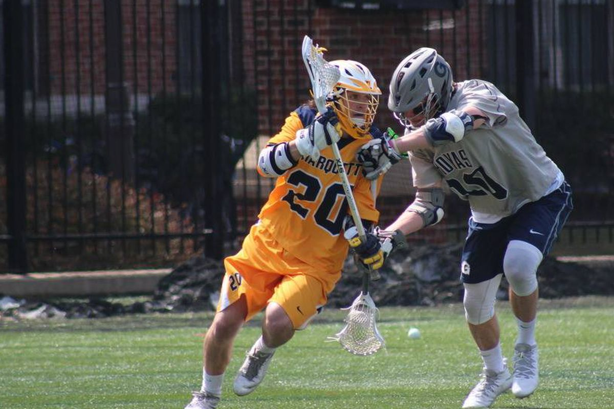 Andy DeMichiei scored three goals in the Big East semifinals, but he was wearing Kyle Whitlow's #6 instead of his usual #20.