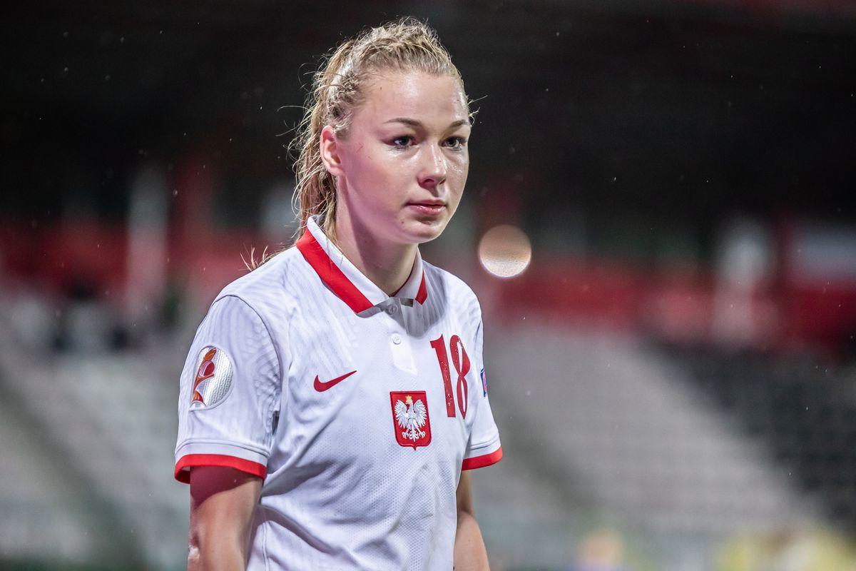 Weronika Zawistowska of Poland seen in action during the...