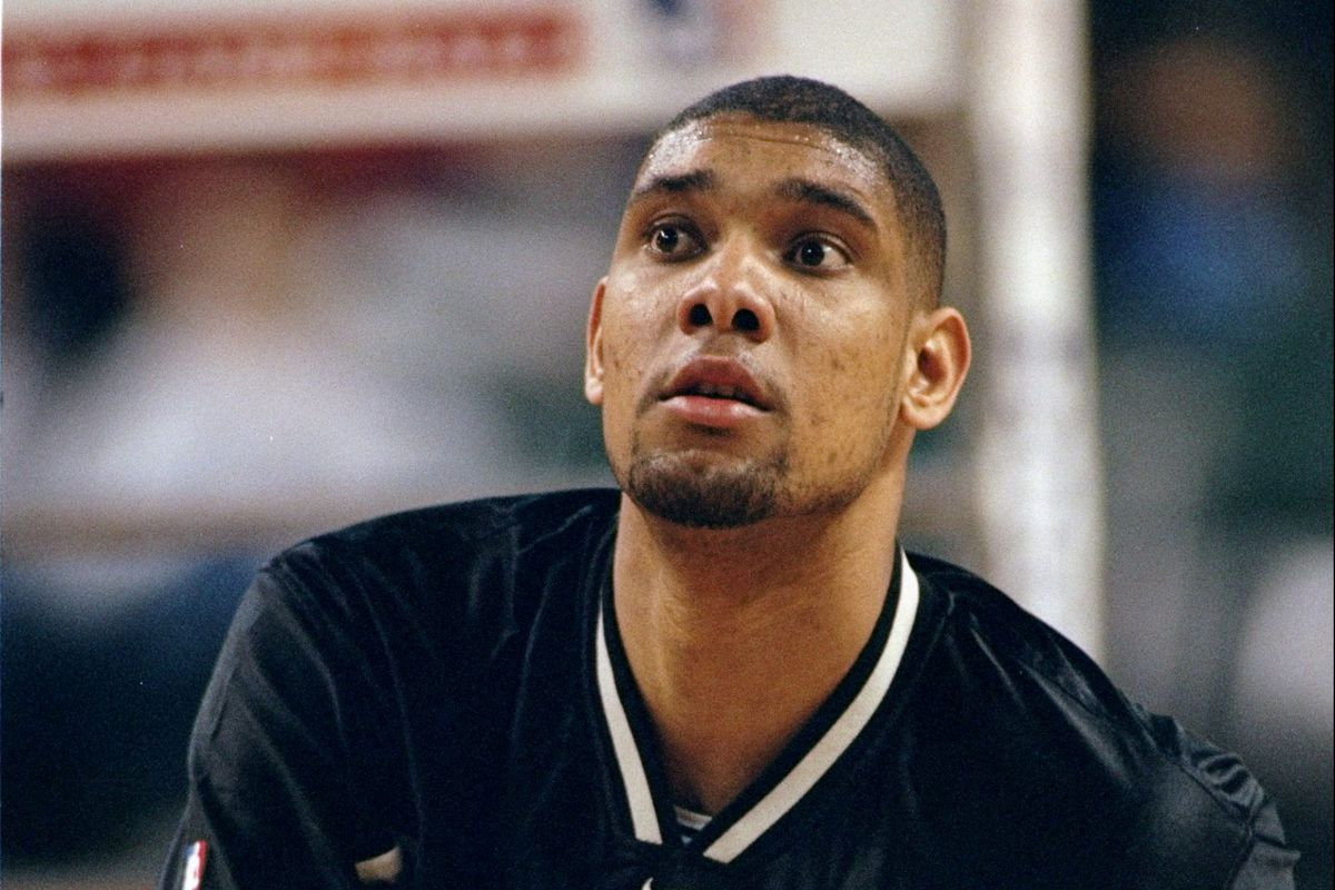 127f772b916 The early years of Tim Duncan ... told through his shoes - Pounding ...