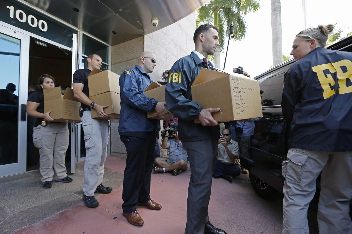 The FBI raids CONCACAF's offices in Miami Beach on Wednesday.