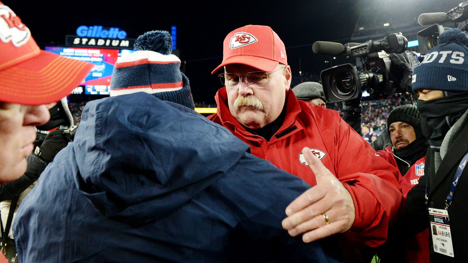 The Andy Reid post-game celebration is here...