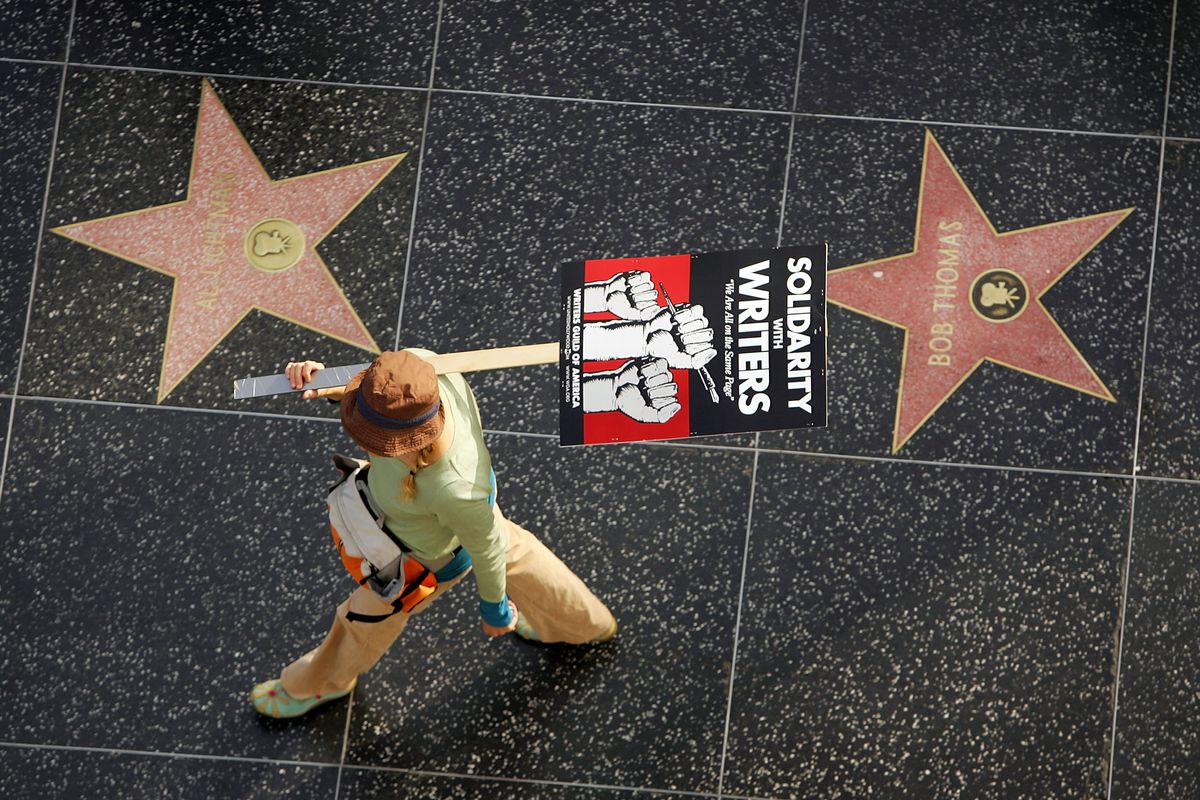 Other Unions Join Striking Writers For March Down Hollywood Blvd