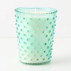"""<a href=""""http://www.anthropologie.com/anthro/product/home-candle/21188859.jsp"""">Anthropologie Simpatico hobnail candle</a>, $28, anthropolgie.com"""
