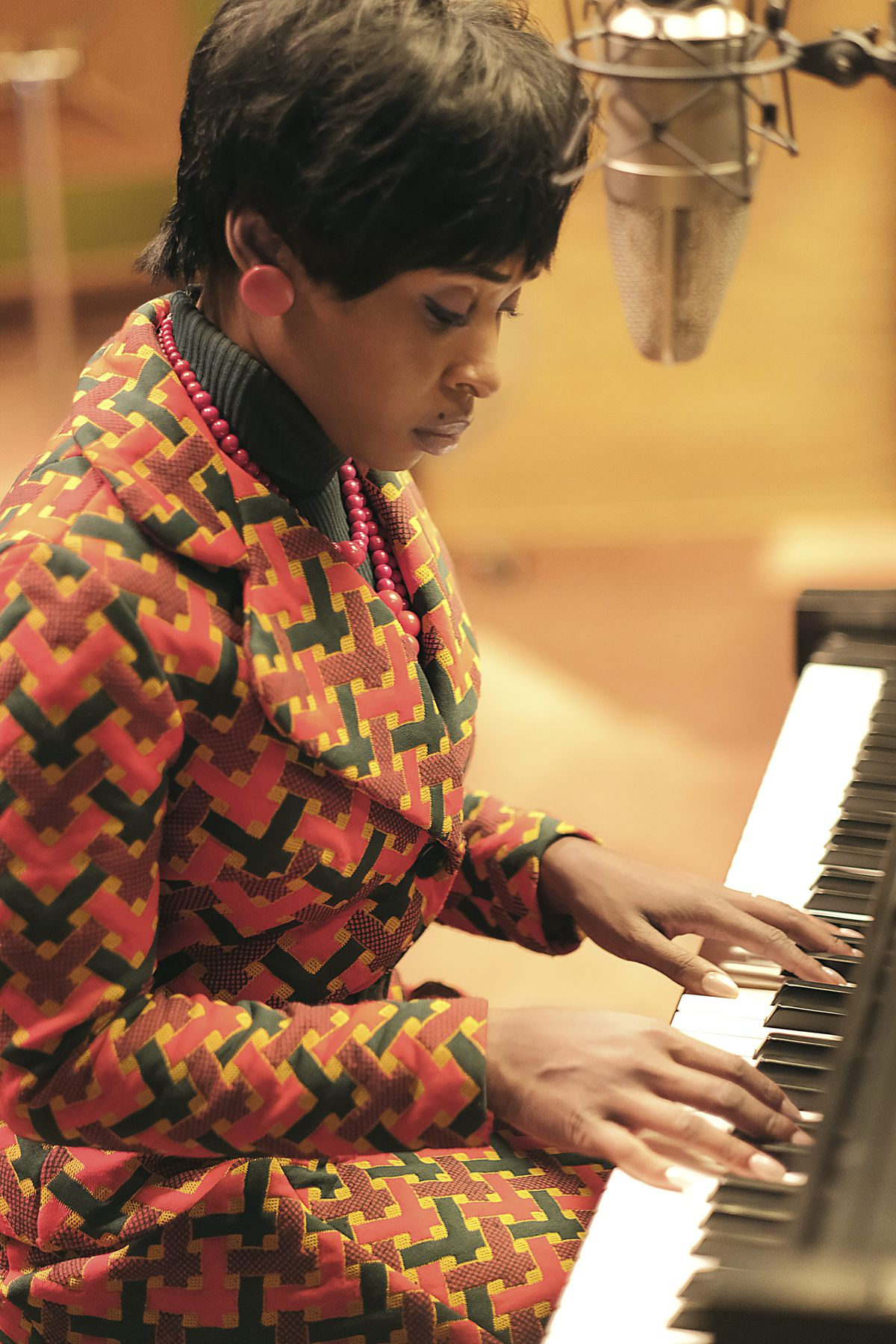 """Cynthia Erivo portrays Aretha Franklin in a scene from the National Geographic miniseries """"Genius: Aretha."""""""