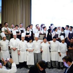 """<a href=""""http://eater.com/archives/2012/07/26/mesamerica-day-one-observations-on-the-future-of-mexican-cuisine.php"""">Hangover Observations: Mesamerica Day One</a> and <a href=""""http://eater.com/archives/2012/07/27/mesamerica-day-two-truffles-boycotts-and-ha"""