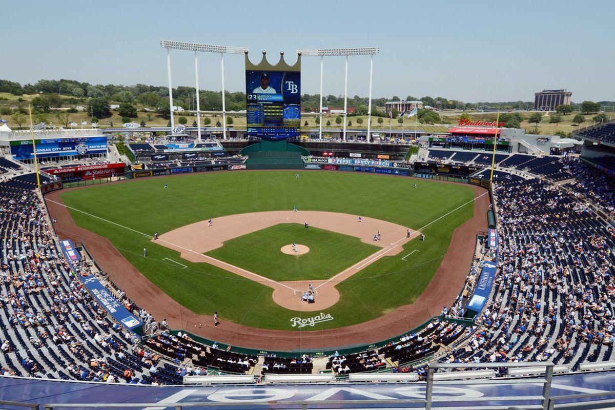 Kauffman Stadium in Kansas City, Missouri. John Rieger-US PRESSWIRE