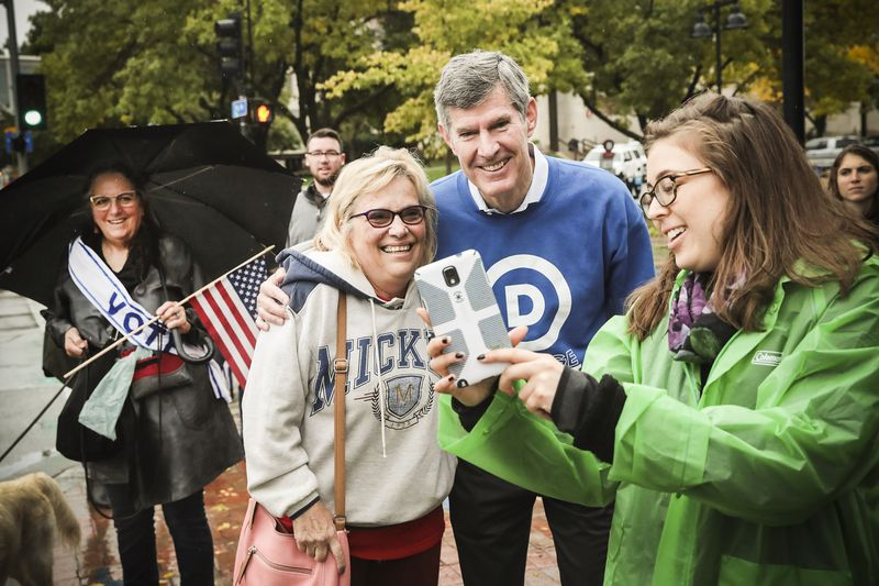 Fred Hubbell, Democratic candidate for governor of Iowa, speaks to supporters at a get-out-the-vote rally on October 8, 2018 in Des Moines, Iowa.