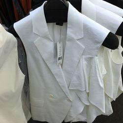 White Jala vest, $169 (was $345)