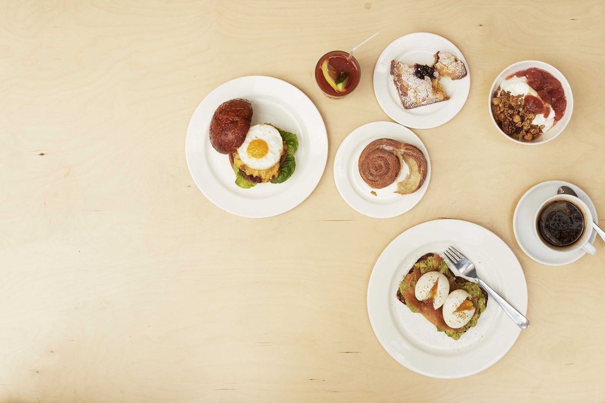 Breakfast staples at Brick House Bakery in East Dulwich, one of London's best bakeries