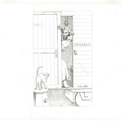 """Abalbert Volck mocked President Abraham Lincoln in his etching, """"Passage through Baltimore"""" (1863), during the American Civil War. The piece is currently on view in an exhibition, """"The Confederate Sketches of Adalbert Volck,"""" at the Smithsonian Insititution's National Portrait Gallery through Jan. 21, 2013."""