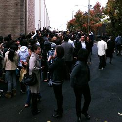 "A look at the crowd via <a href=""http://www.mizhattan.com/2011/11/arrests-made-at-salvatore-ferragamo.html"" rel=""nofollow"">Mizhattan</a>"