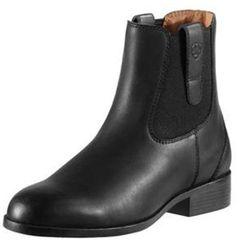 "<strong>Ariat</strong> London Jod, <a href=""http://www.ariat.com/English/Women/Footwear/PaddockBoots/London.html?color=BLACK"">$149.95</a> at Tal-Y-Tara Tea & Polo Shoppe"