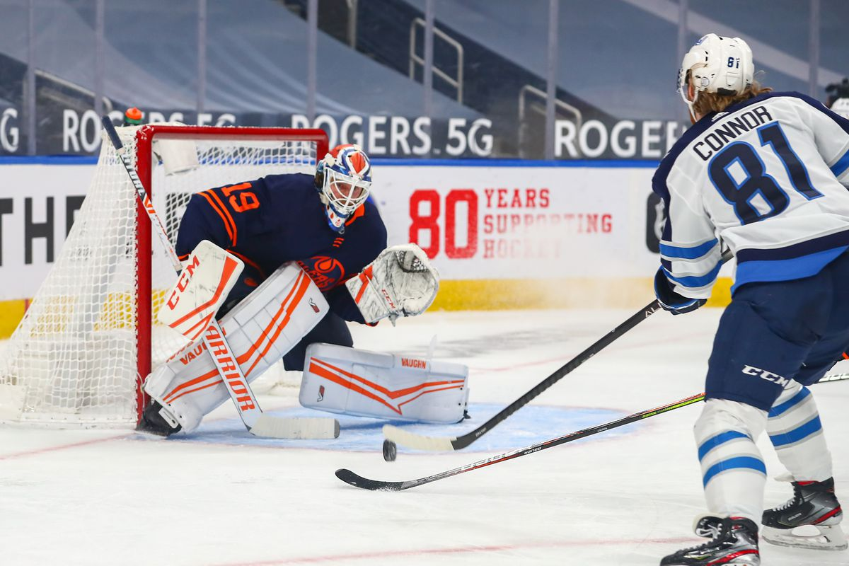 NHL: FEB 15 Jets at Oilers