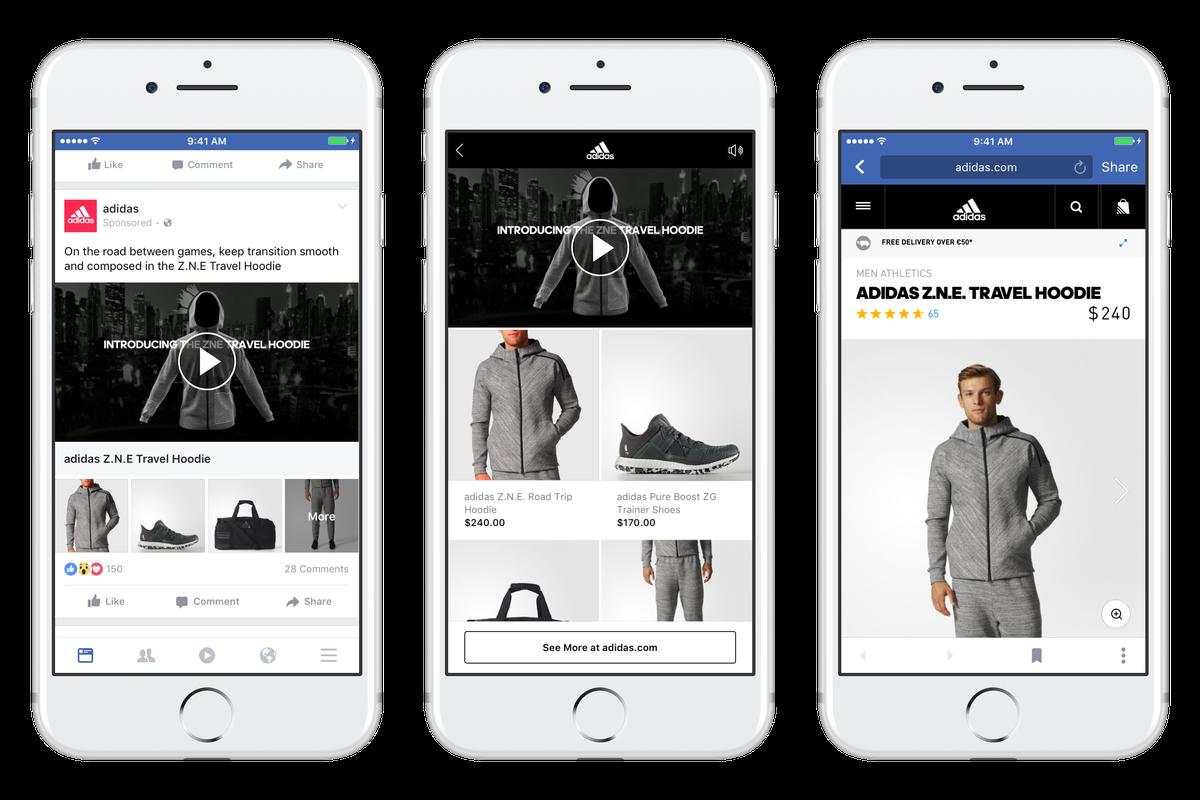 Adidas facebook image ad