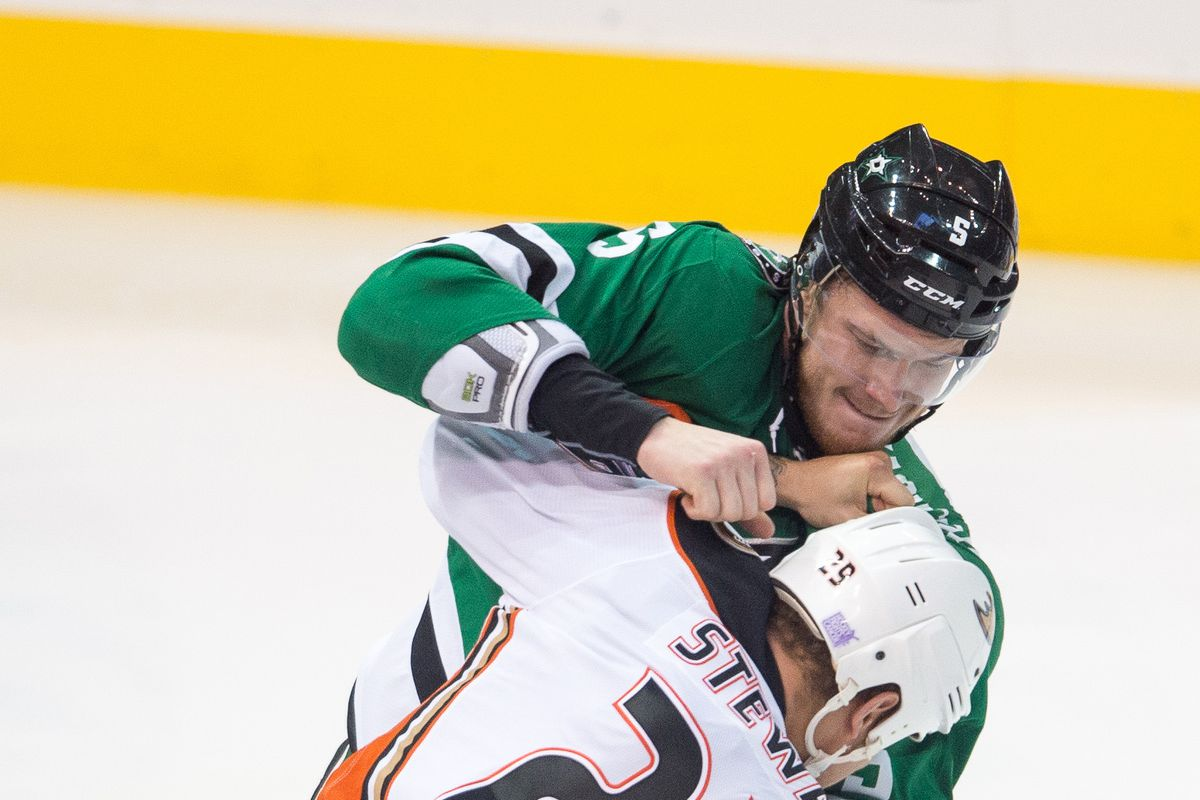 Jamie Oleksiak is going to need to throw his weight around.