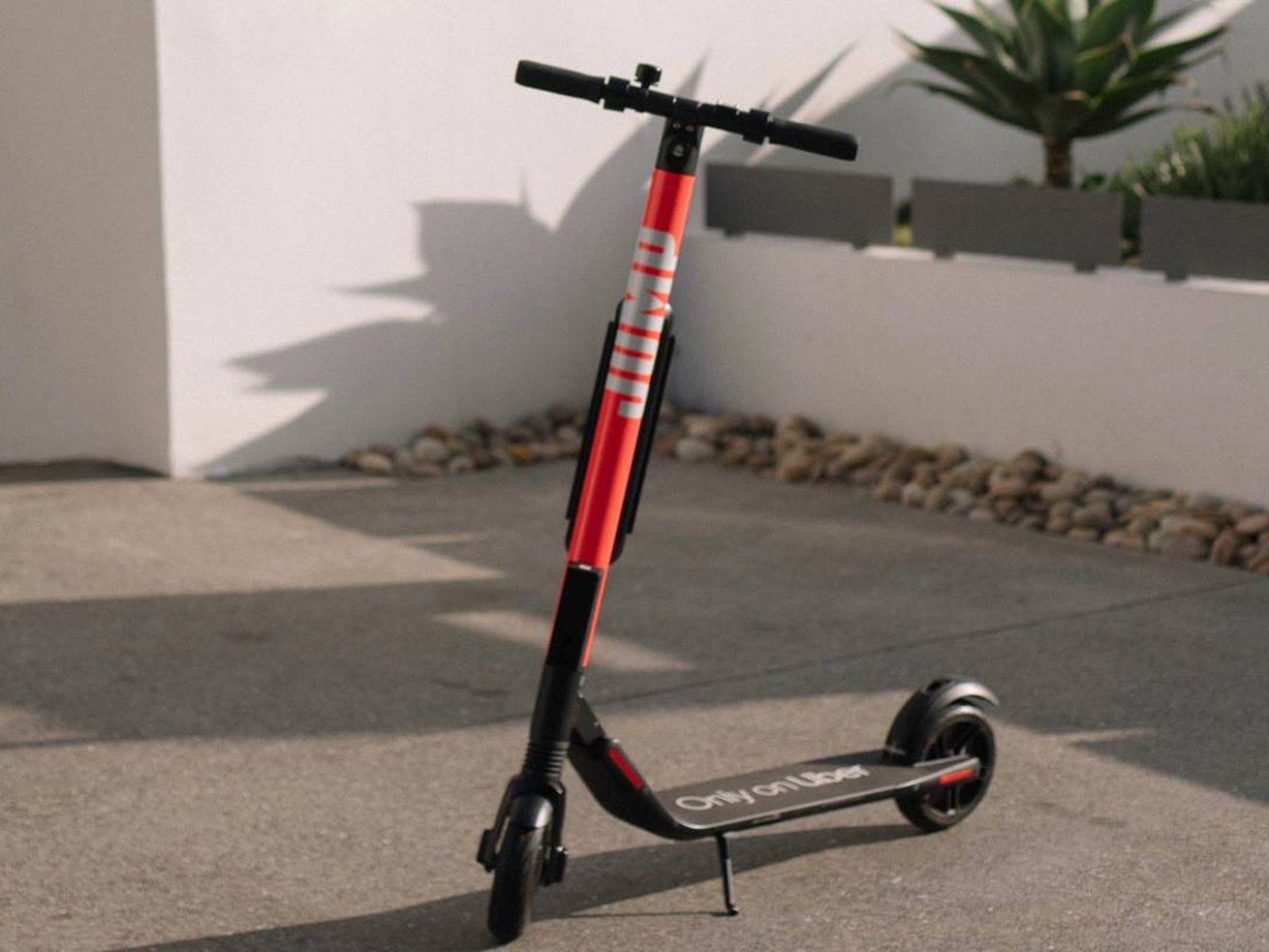 The newest scooters on LA streets are from Jump, a company owned by Uber.