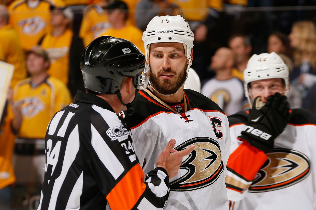 0bc0d804e78 Photo by Frederick Breedon Getty Images. Ryan Getzlaf was fined ...