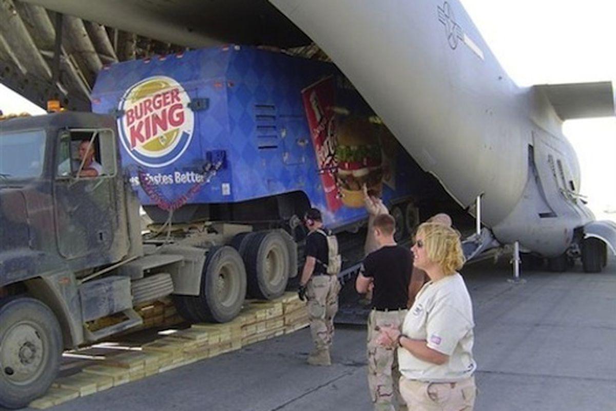 Regulation military Burger King semi.