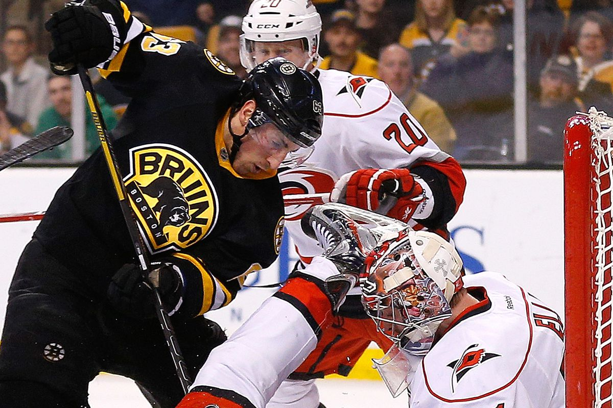 """""""Wraparound"""" was the word of the evening, as Brad Marchand benefits from one of Jaromir Jagr's"""