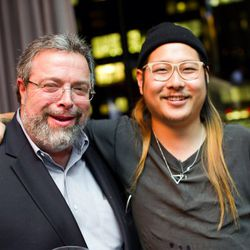 Drew Nieporent making friends with Danny Bowien of SF's Mission Chinese Food.