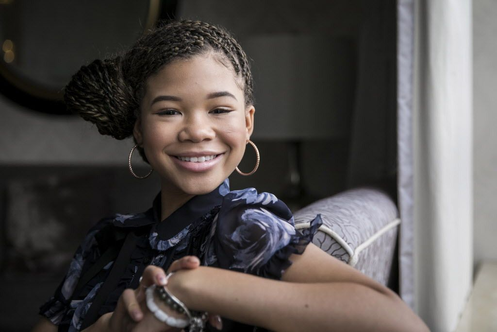 """""""It's so amazing to have so much representation and inclusion within our film, not only within the cast but with the crew. It was the like the United Nations,"""" says Storm Reid, about working on the film """"A Wrinkle in Time."""" 