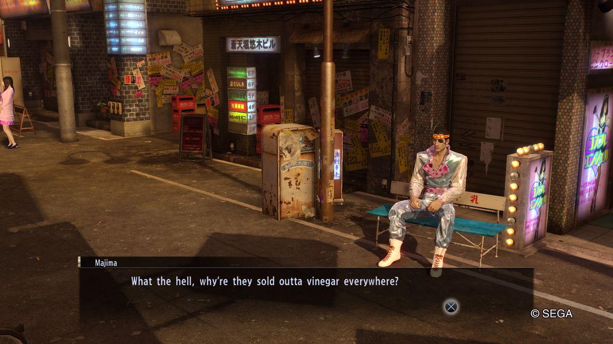 Yakuza 0 - Majima Goro needs some vinegar