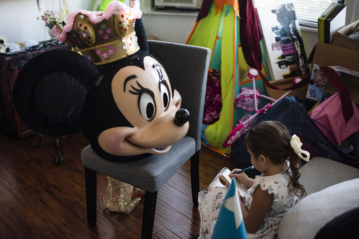 Their daughter occupies herself at home in union City. José and Nadia have sought new jobs amid the uncertainty of working in a tourism-dependent career. Even as their earning drop markedly, everyday costs — including a babysitter for their daughter — continue.