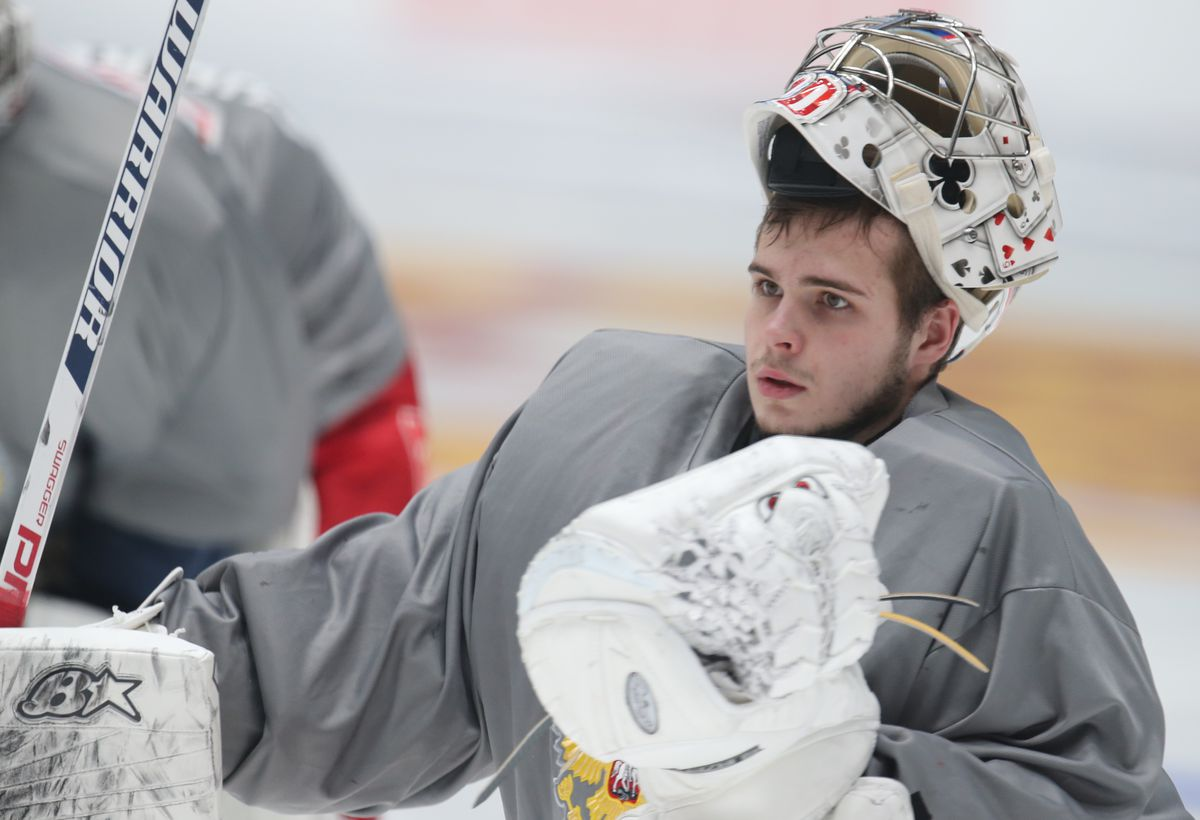 Russian national ice hockey team training ahead of Euro Hockey Tour match against Finland