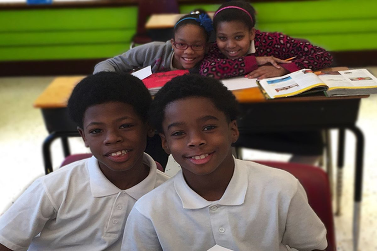 Students at Hope Academy in Detroit.