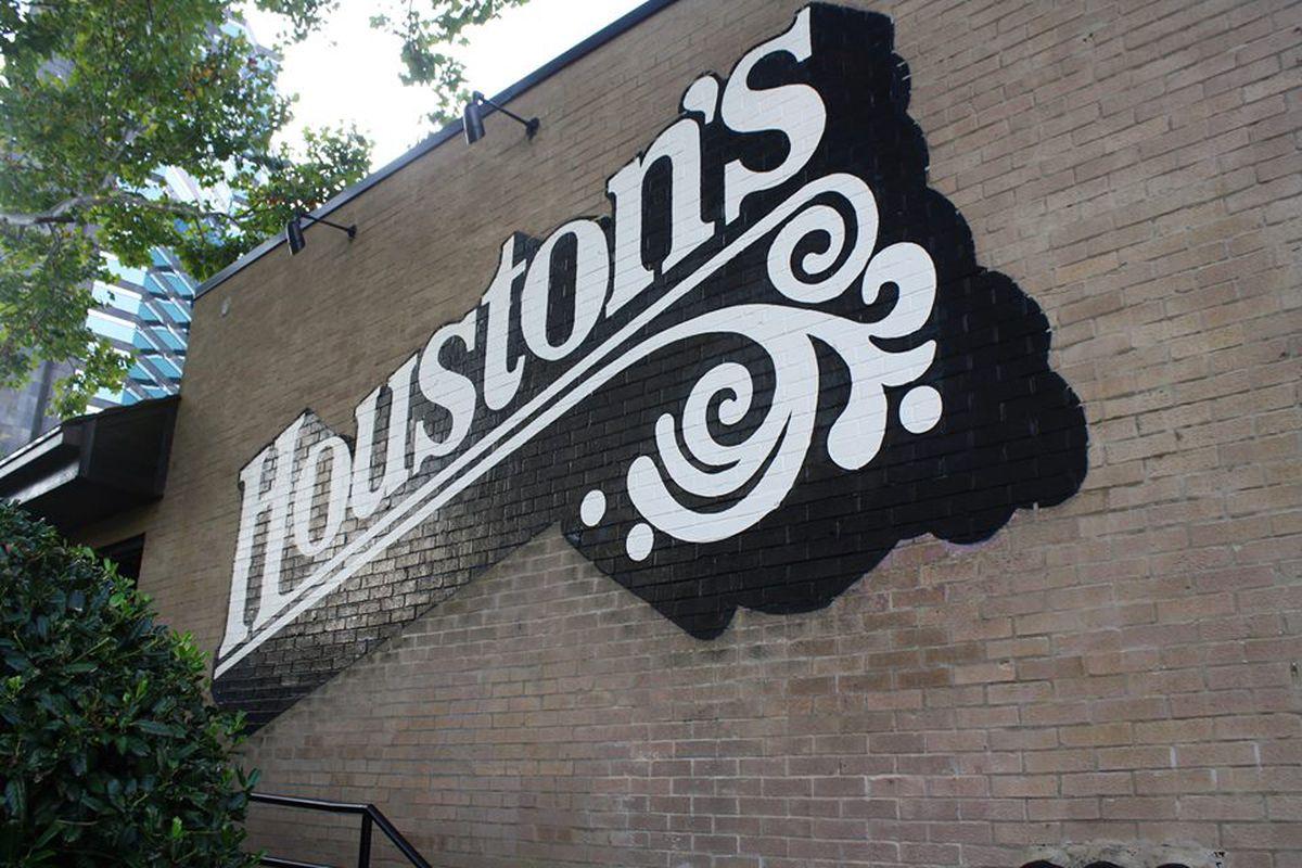 Painted signage at Houston's Lenox Road.