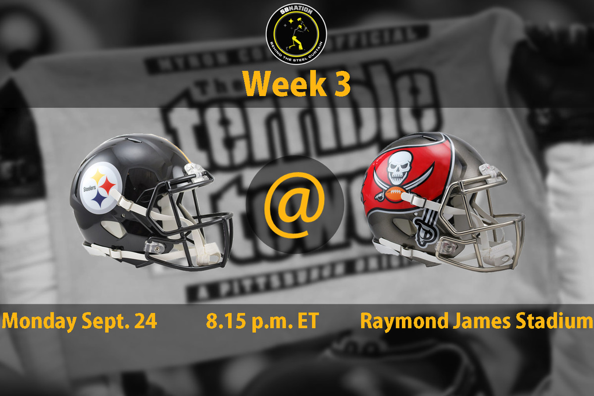 steelers vs. buccaneers week 3: time, tv schedule and how to watch