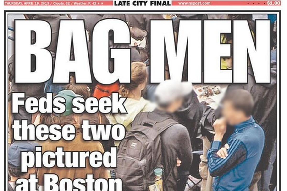 Online witch hunt for Boston bomber leads to NY Post cover photo of